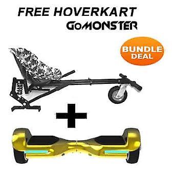 6.5&G PRO Gold Chrome Bluetooth Hoverboard & Monster Hoverkart i Camo