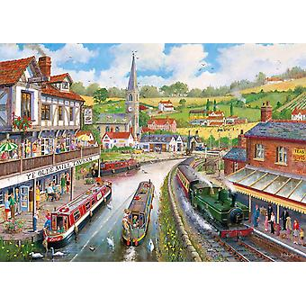 Gibsons Ye Olde Mill Tavern Jigsaw Puzzle (500 XL pieces)