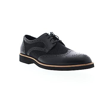 English Laundry Bolton  Mens Black Leather Casual Lace Up Oxfords Shoes