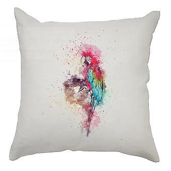 Watercolour Cushion Cover 40cm x 40cm Parrot
