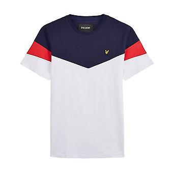 Lyle & Scott | Ts1215v Vintage Panel Crew Neck T-shirt - Navy/white