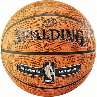 Spalding NBA Platinum All Surface Outdoor Rubber Basketball Ball Orange
