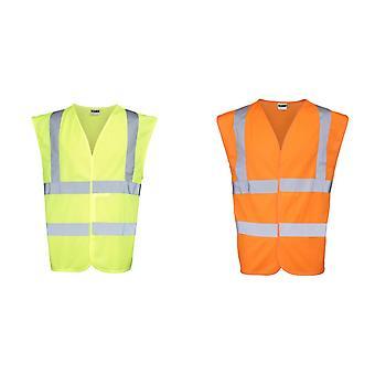 RTY hoge zichtbaarheid Unisex hoge Vis mouwloos jasje / Vest