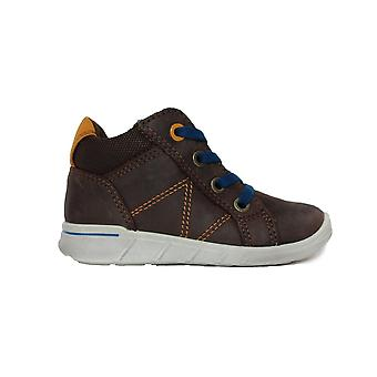 Ecco First Walkers 754091 02072 Brown Suede Leather Boys Lace Up Ankle Boots