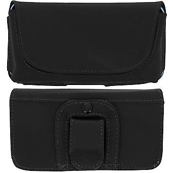 Smartphone Belt Case 5.5 '' Universal Cover Clip and Loop Black