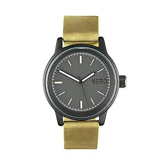 Nero Steel 112 Lime Leather Strap Unisex Watch - Lime