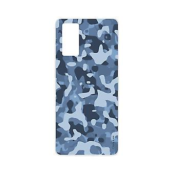 Hull For Samsung Galaxy S20 Soft Blue Military Camouflage