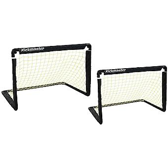 MV Sports Kickmaster One on One Folding Football Goal Set (2 Goals)