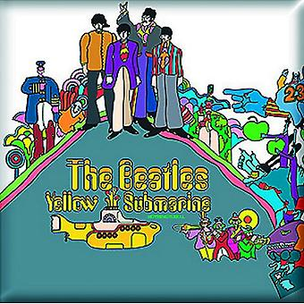 The Beatles Fridge Magnet Yellow Submarine Album new Official 76mm x 76mm