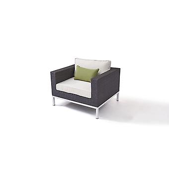 Polyrattan roestvrijstalen Silva fauteuil - antraciet