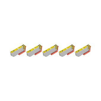 RudyTwos 5x Replacement for Epson 33XL(Orange) Ink Unit Yellow Compatible with Expression Premium XP-530, XP-540, XP-630, XP-635, XP-640, XP-645, XP-830, XP-900