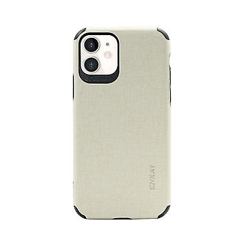 For iPhone 11 Case Fabric Texture Denim Slim Fashionable Protective Cover Beige
