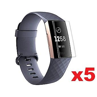 for Fitbit Charge 4 5x Screen Protector Film Cover Smart Watch
