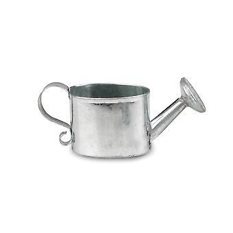 Small 4cm Oval Zinc Coated Metal Watering Can for Miniature Gardens