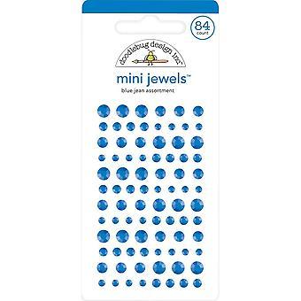 Doodlebug Design Blue Jean Mini Jewels (84pcs) (6721)
