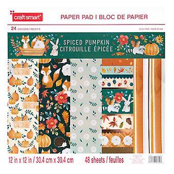 Craft Smith Spiced Pumpkin 12x12 Inch Paper Pad