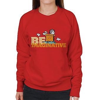 Erdnüsse Snoopy Charlie Brown seien fantasievolle Frauen's Sweatshirt