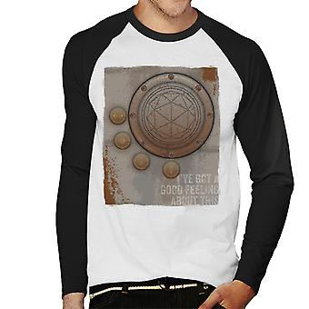 The Crystal Maze Second Good Feeling Rust Panel Men's Baseball Long Sleeved T-Shirt