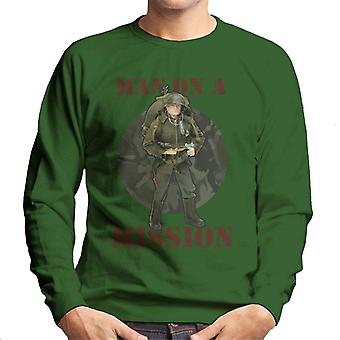 Action Man On A Mission Men's Sweatshirt