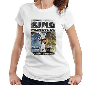 Godzilla Vs Ghidorah King Of The Monsters Poster Women's T-Shirt