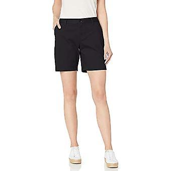 Essentials Women's 7& Inseam Solid Chino Short, Svart, 14