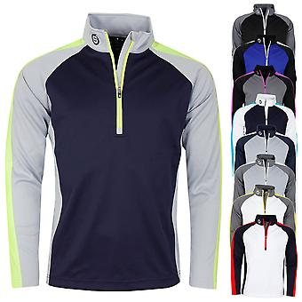 Sunderland Mens Aspen Midlayer 1/2 Zip Water Repellent Golf Pullover