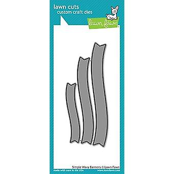 Lawn Fawn Simple Wavy Banners Dies
