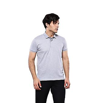 Polo plain grey t-shirt | wessi