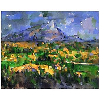 Print on canvas - Mont Sainte-Victoire - Paul Cézanne - Painting on Canvas, Wall Decoration