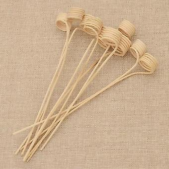 Wood Rattan Reeds Through Flowers Diffuser Replacement Stick 10pcs