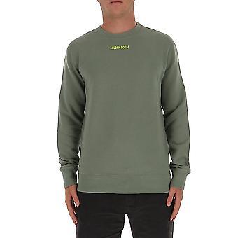 Golden Goose Gmp00471p00020735683 Män's Grön Bomull Sweatshirt