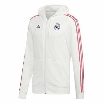 2020-2021 Real Madrid 3S Teljes Zip Kapucnis (Fehér)