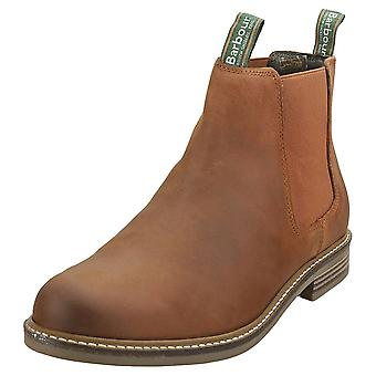 Barbour Farsley Mens Chelsea Boots in Dark Tan