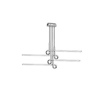 Semi Flush Plafondlamp Hanger 42W LED, 3000K, 3360lm, Gepolijst Chroom