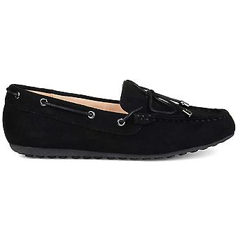 Brinley Co. Womens Thain Comfort-Sole Faux Suede Slip-on Loafers