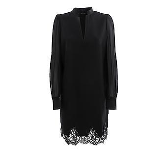 Ermanno Scervino Ab71hen99 Mujeres's Vestido de Algodón Negro