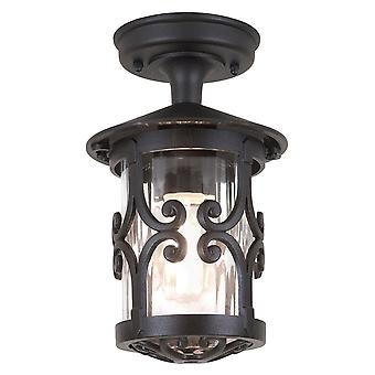 Elstead Beleuchtung Hereford IP23 Exterior Porch Lantern In Black