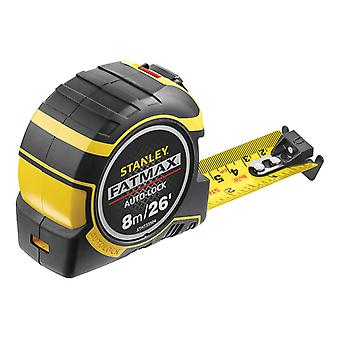 Stanley Tools Cinta de bolsillo de bloqueo automático FatMax 8m/26ft (Ancho 32mm) STA033504