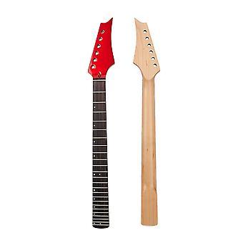 24 Frets Sähkökitara kaula punainen pään kahva kitaroiden vaihto
