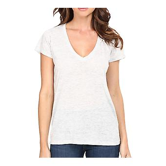 Alternatíva | Melange Burnout Slinky V-Neck T-Shirt