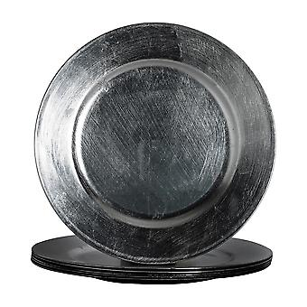 Argon Tableware Round Charger Under Plates in Gunmetal Grey - 330mm - Pack Of 6