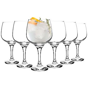 Rink Drink 6 Piece Balloon Gin Glass Set - Large Copa Style Bowl Glass - 730ml