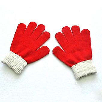 Baby Gloves Winter Boys Girls Knitted Warm Rope Full Finger Mittens For Kids Toddler