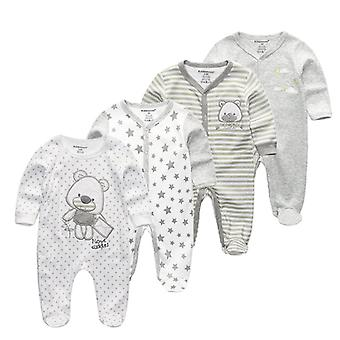 Long Sleeved Cotton Romper-nachtkleding voor Newborm