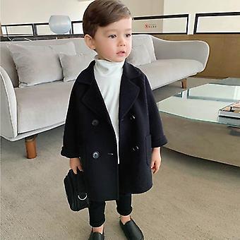 Płaszcz wełniany dla dzieci, jesienny i zimowy płaszcz
