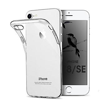 Case For iPhone Se (2020) / iPhone 8 / Iphone 7, hoogwaardige siliconen beschermhoes, transparant