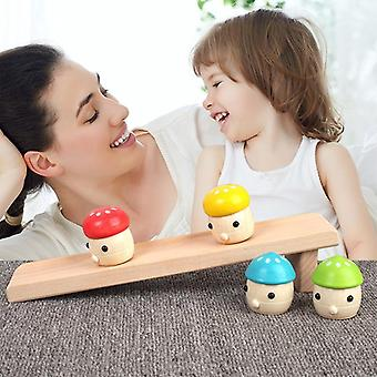 Solid Wood's Puzzle, Montessori Early Childhood Baby Toy, Mushroom Slide Infant
