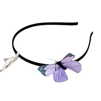 Diadem med lila fjäril
