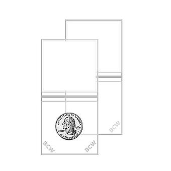 "BCW Vinyl Coin Flips Double Pocket (2"" x 2"")"