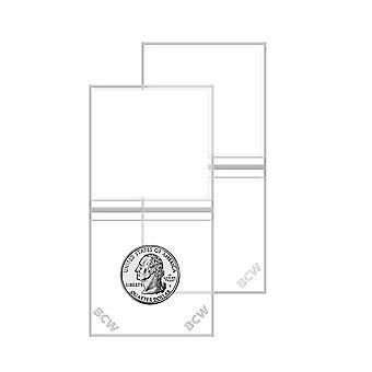 """BCW Vinyl mince Flips Double Pocket (2"""" x 2&)"""
